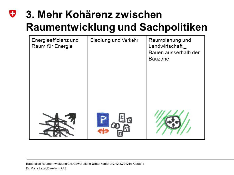 10 Baustellen Raumentwicklung CH. Gewerbliche Winterkonferenz 12.1.2012 in Klosters Dr.