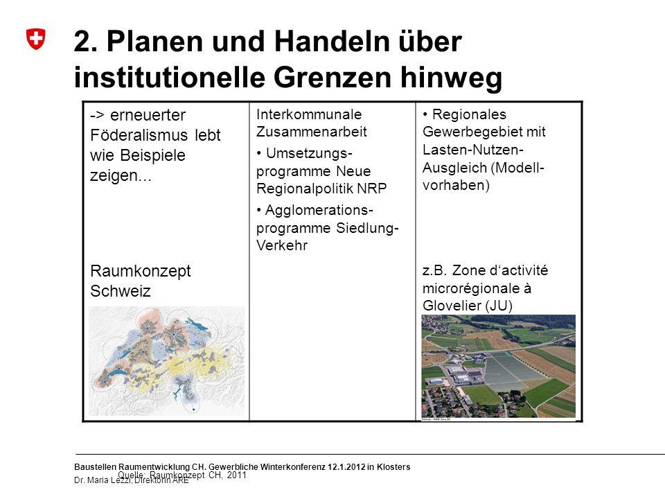 8 Baustellen Raumentwicklung CH. Gewerbliche Winterkonferenz 12.1.2012 in Klosters Dr.