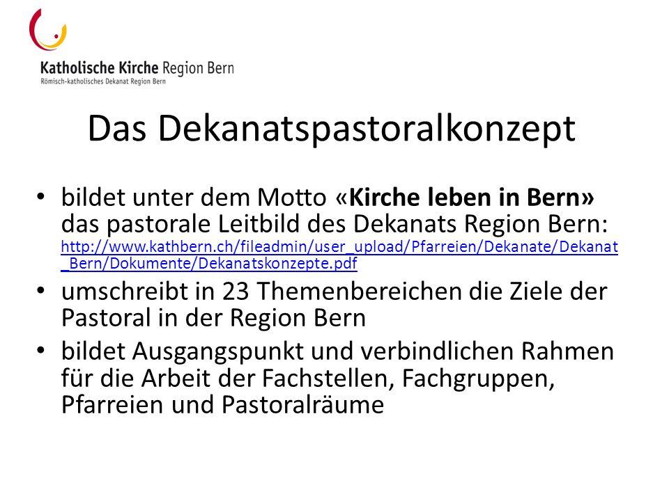 Das Dekanatspastoralkonzept bildet unter dem Motto «Kirche leben in Bern» das pastorale Leitbild des Dekanats Region Bern: http://www.kathbern.ch/file