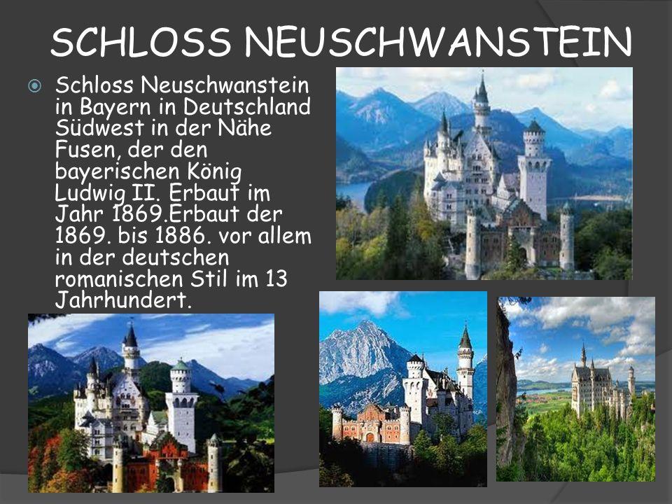 SCHLOSS NEUSCHWANSTEIN Schloss Neuschwanstein in Bayern in Deutschland Südwest in der Nähe Fusen, der den bayerischen König Ludwig II. Erbaut im Jahr