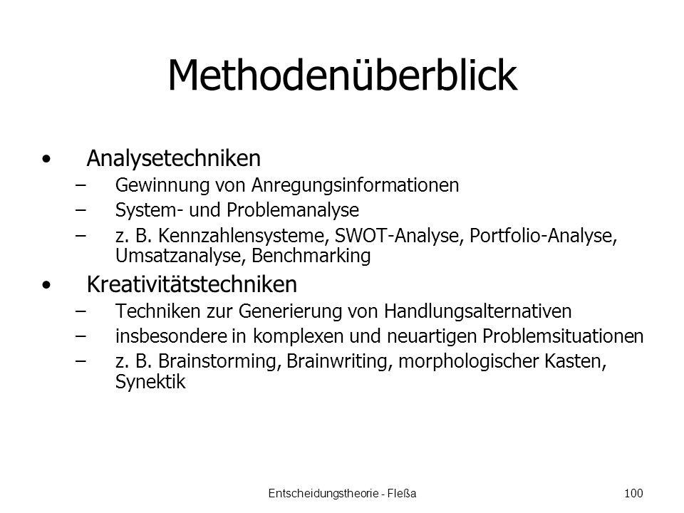 Methodenüberblick Analysetechniken –Gewinnung von Anregungsinformationen –System- und Problemanalyse –z.