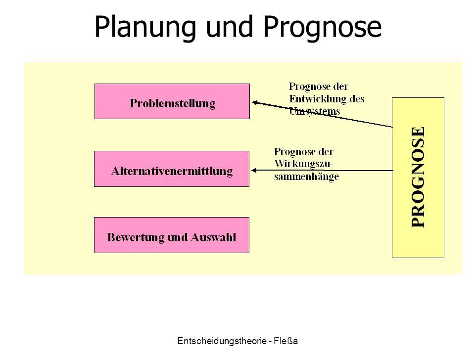 Planung und Prognose Entscheidungstheorie - Fleßa