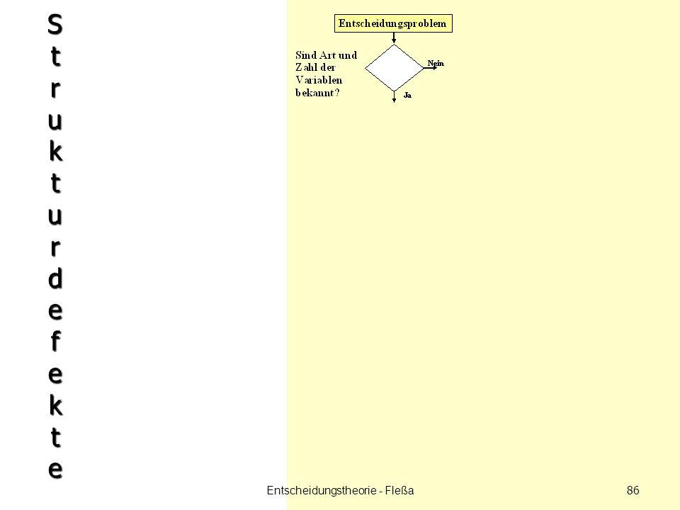 StrukturdefekteStrukturdefekteStrukturdefekteStrukturdefekte Entscheidungstheorie - Fleßa 86