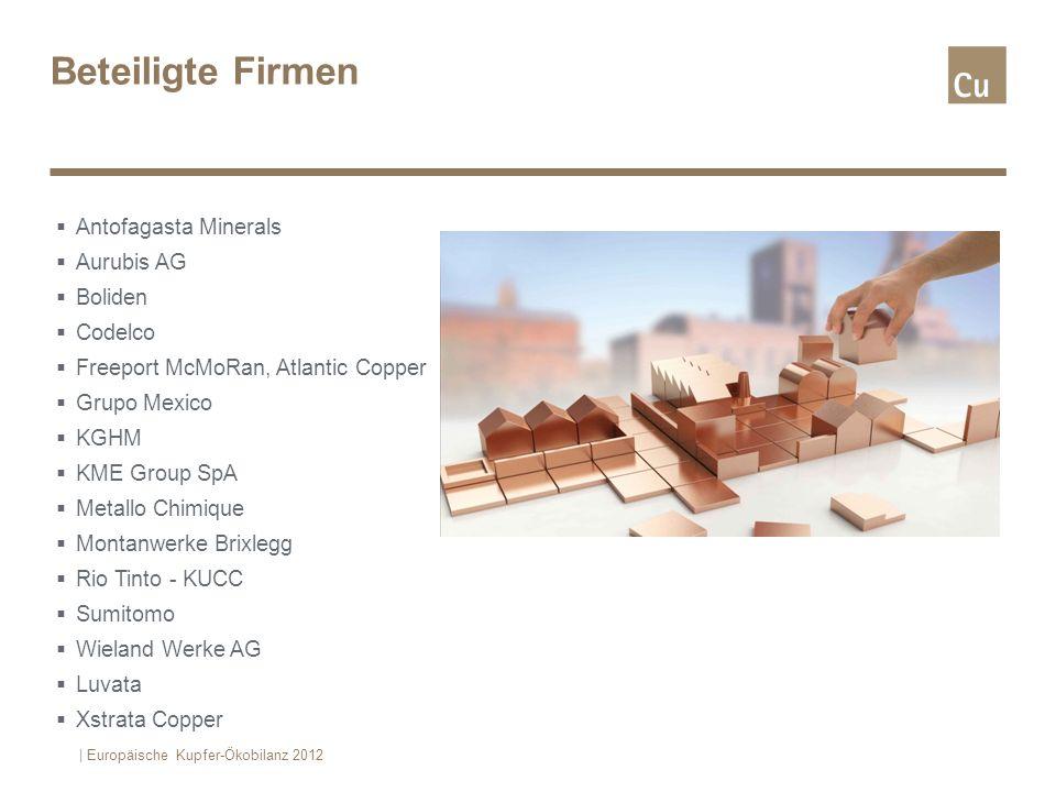 Beteiligte Firmen Antofagasta Minerals Aurubis AG Boliden Codelco Freeport McMoRan, Atlantic Copper Grupo Mexico KGHM KME Group SpA Metallo Chimique M