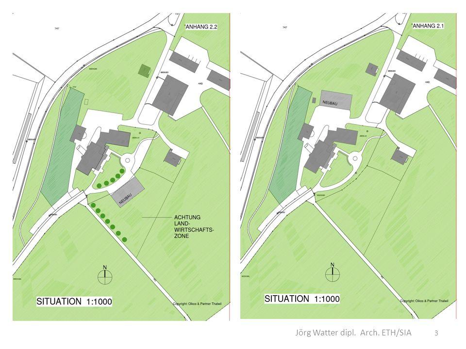 Mauritiusheim Langfristig teuer in Bau und Betrieb 3 Gebäude sind kompliziert im Betrieb Bestehende Gebäude können nicht optimal umgestaltet werden = weiterhin aufwendig Zementieren des Standortes an der Peripherie des Dorfes 4 Jörg Watter dipl.