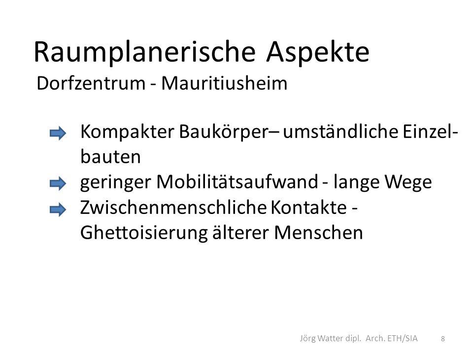 Langfristige Integration aller Alter und Geschlechter Dienstleistungen für Betreuung und Pflege Zusatzangebote an medizinischer und gewerblicher Versorgung 9 Jörg Watter dipl.