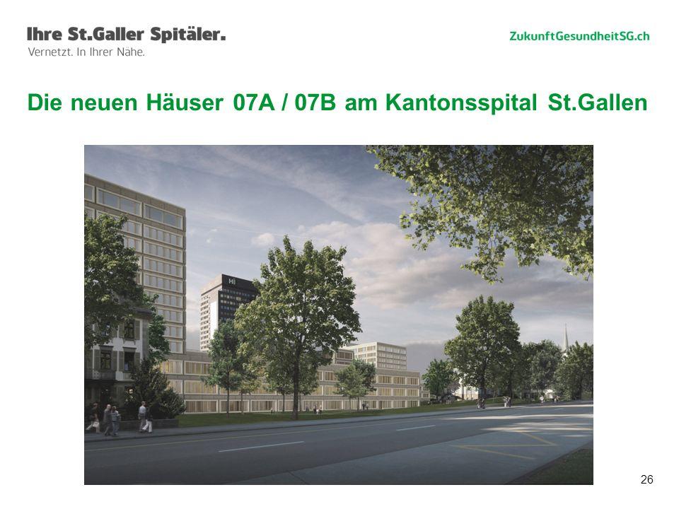 26 Die neuen Häuser 07A / 07B am Kantonsspital St.Gallen