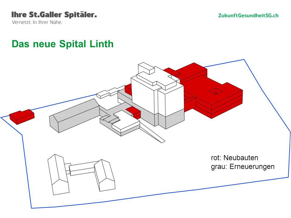 41 Das neue Spital Linth rot: Neubauten grau: Erneuerungen