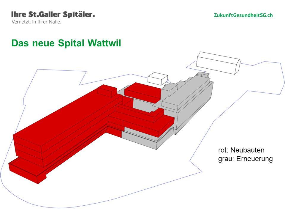 45 Das neue Spital Wattwil rot: Neubauten grau: Erneuerung