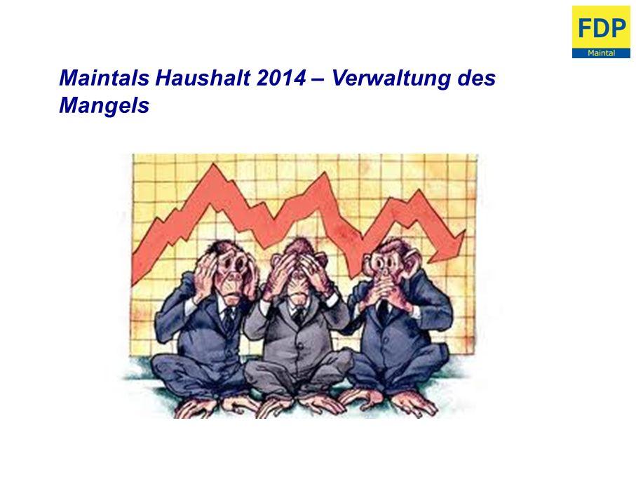 Maintals Haushalt 2014 – Verwaltung des Mangels