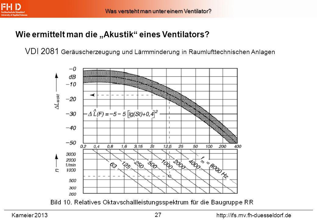 Kameier 2013 http://ifs.mv.fh-duesseldorf.de (hier mit Proportionalitäten zur Drehzahl) Volumenstrom (auch q v abgekürzt) Druckdifferenz(auch p tot ab