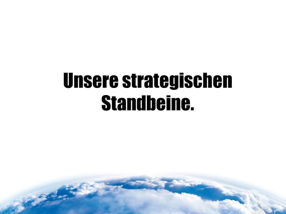 Unsere strategischen Standbeine. 20