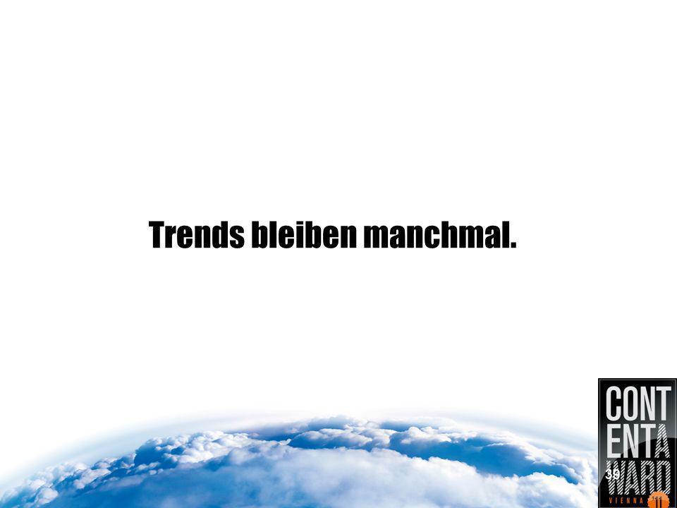Trends bleiben manchmal. 39