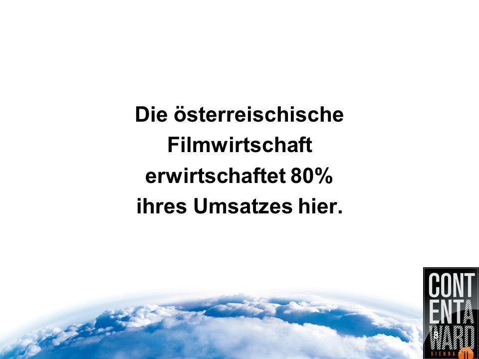 Die österreischische Filmwirtschaft erwirtschaftet 80% ihres Umsatzes hier. 8