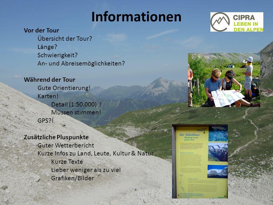Informationen Vor der Tour Übersicht der Tour. Länge.