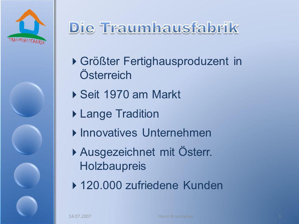Größter Fertighausproduzent in Österreich Seit 1970 am Markt Lange Tradition Innovatives Unternehmen Ausgezeichnet mit Österr. Holzbaupreis 120.000 zu