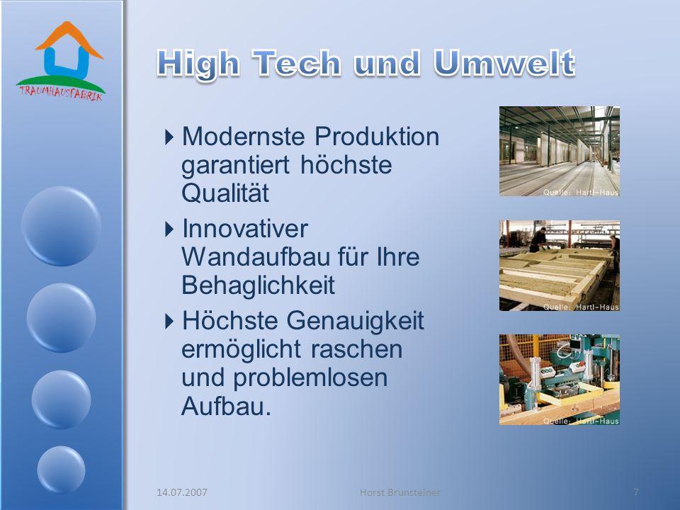 Modernste Produktion garantiert höchste Qualität Innovativer Wandaufbau für Ihre Behaglichkeit Höchste Genauigkeit ermöglicht raschen und problemlosen
