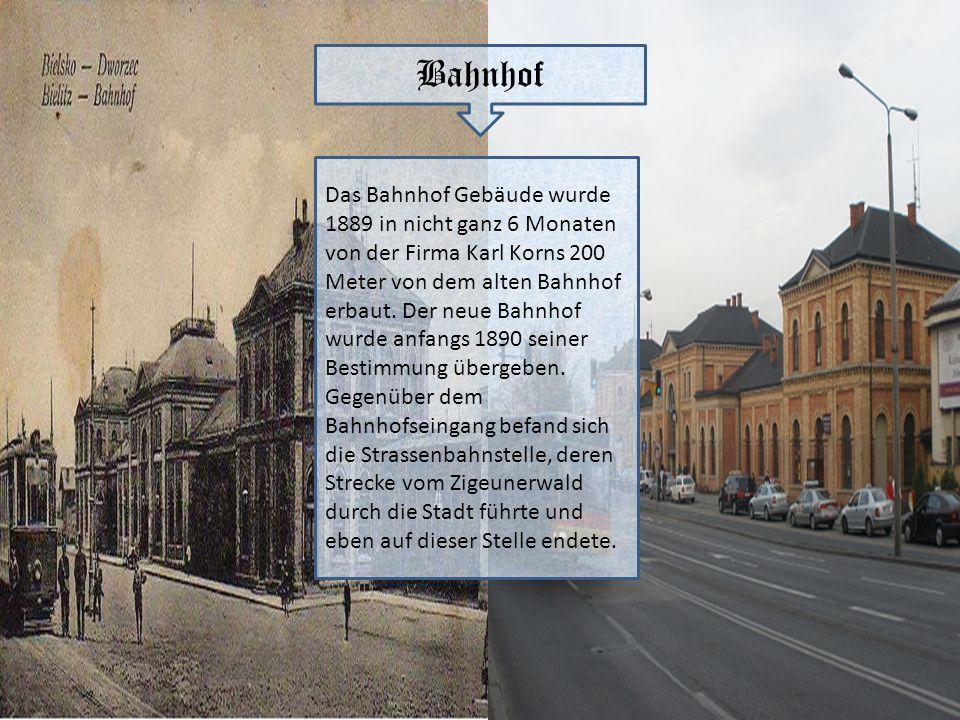 Bahnhof Das Bahnhof Gebäude wurde 1889 in nicht ganz 6 Monaten von der Firma Karl Korns 200 Meter von dem alten Bahnhof erbaut. Der neue Bahnhof wurde