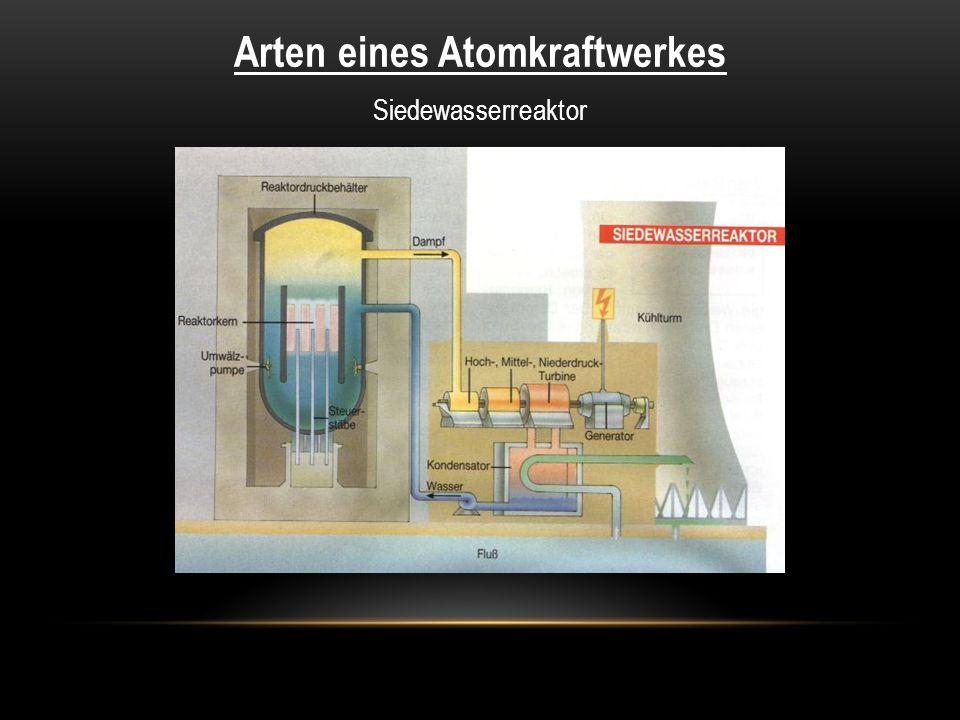 Arten eines Atomkraftwerkes Siedewasserreaktor