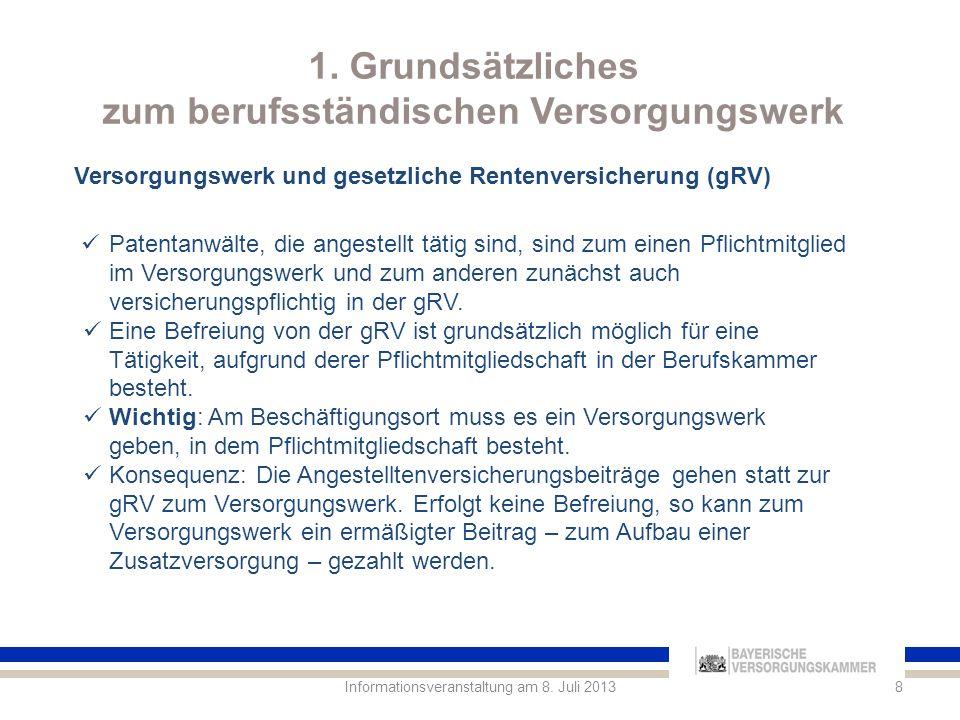 4.Die BRAStV im Verbund der BVK Tätigkeitsgebiete der BVK Informationsveranstaltung am 8.