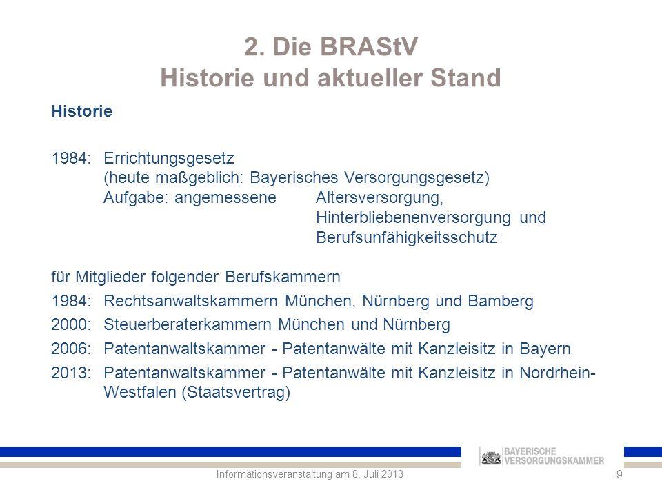 2.Die BRAStV Historie und aktueller Stand Informationsveranstaltung am 8.