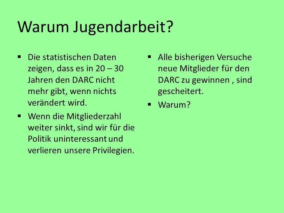 Die statistischen Daten zeigen, dass es in 20 – 30 Jahren den DARC nicht mehr gibt, wenn nichts verändert wird.