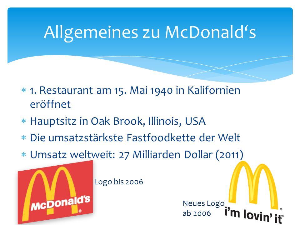 Franchise Partner (Filialleiter) bekommen Geld und bauen dafür eine Filiale Verkaufen in der Filiale Produkte welche McDonalds vorschreibt Müssen Anteile ihres Einkommens an McDonalds zahlen Prinzip von McDonalds