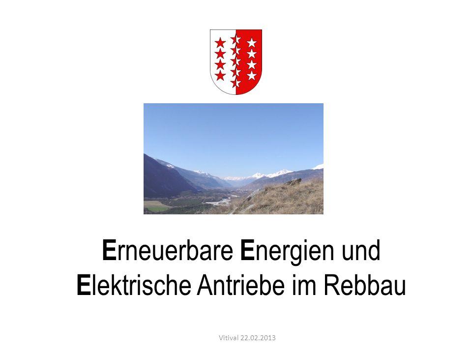 E rneuerbare E nergien und E lektrische Antriebe im Rebbau Vitival 22.02.2013