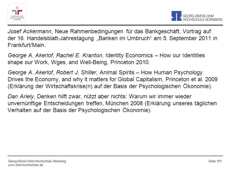 Josef Ackermann, Neue Rahmenbedingungen für das Bankgeschäft, Vortrag auf der 16. Handelsblatt-Jahrestagung Banken im Umbruch am 5. September 2011 in