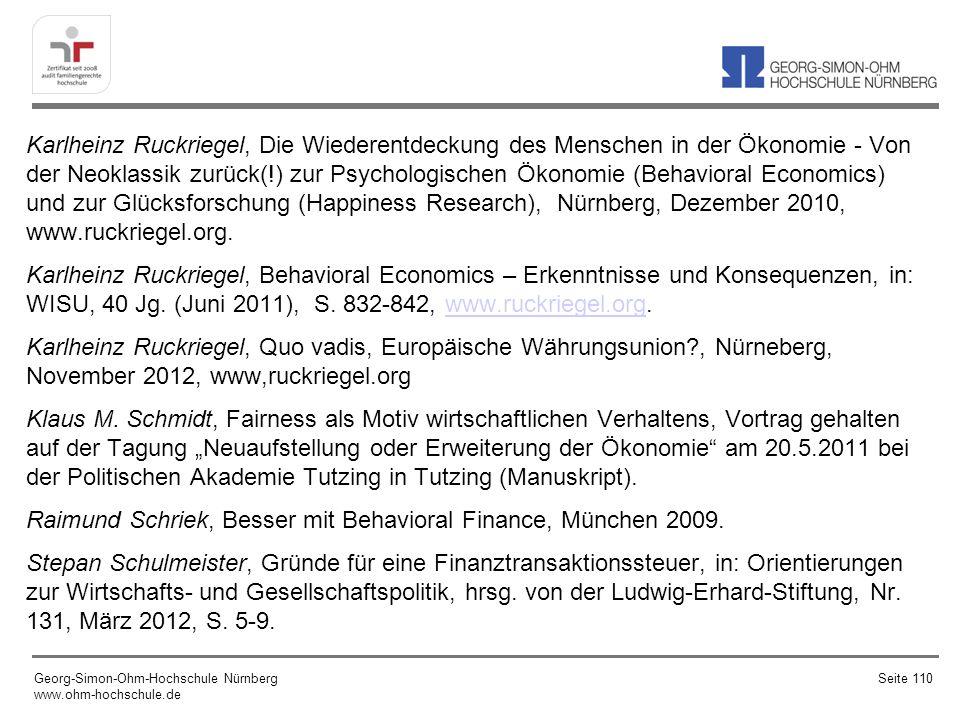 Karlheinz Ruckriegel, Die Wiederentdeckung des Menschen in der Ökonomie - Von der Neoklassik zurück(!) zur Psychologischen Ökonomie (Behavioral Econom