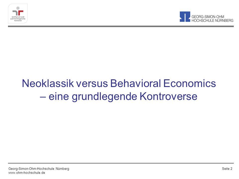 Behavioral Economics: makroökonomische Einsichten und empirische Befunde Georg-Simon-Ohm-Hochschule Nürnberg www.ohm-hochschule.de Seite 53