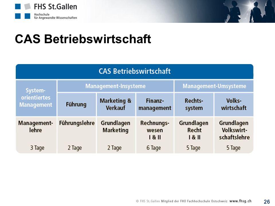 26 CAS Betriebswirtschaft