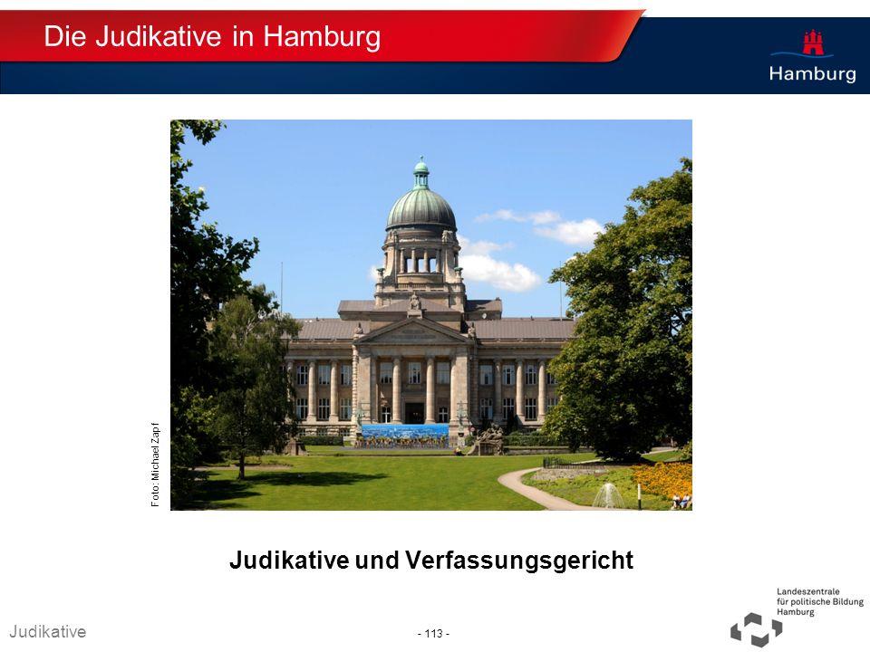 Absender Judikative und Verfassungsgericht Die Judikative in Hamburg Judikative Foto: Michael Zapf - 113 -