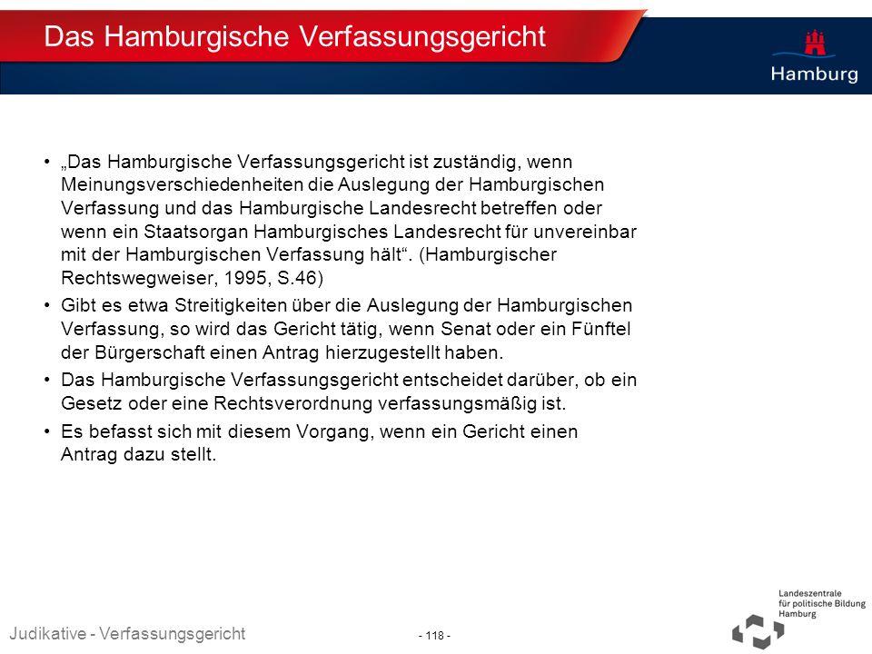 Absender Das Hamburgische Verfassungsgericht Das Hamburgische Verfassungsgericht ist zuständig, wenn Meinungsverschiedenheiten die Auslegung der Hambu