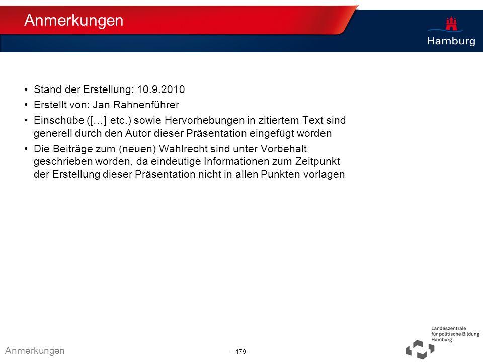 Absender Anmerkungen Stand der Erstellung: 10.9.2010 Erstellt von: Jan Rahnenführer Einschübe ([…] etc.) sowie Hervorhebungen in zitiertem Text sind g