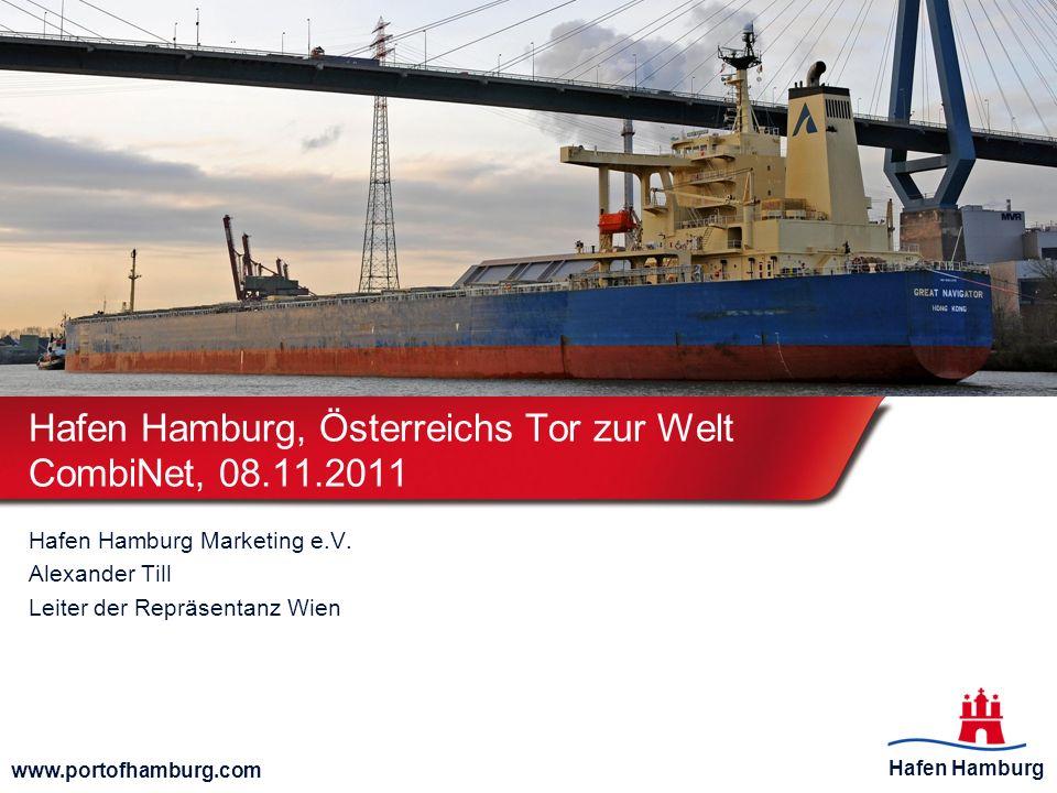 Hafen Hamburg www.portofhamburg.com Zugaufkommen (Ein- und Ausgang) Auch das Zugaufkommen bei der Hafenbahn ist gestiegen.