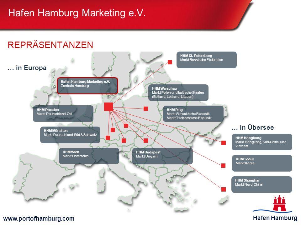 Hafen Hamburg www.portofhamburg.com REPRÄSENTANZEN Hafen Hamburg Marketing e.V. Zentrale Hamburg HHM Warschau Markt Polen und baltische Staaten (Estla