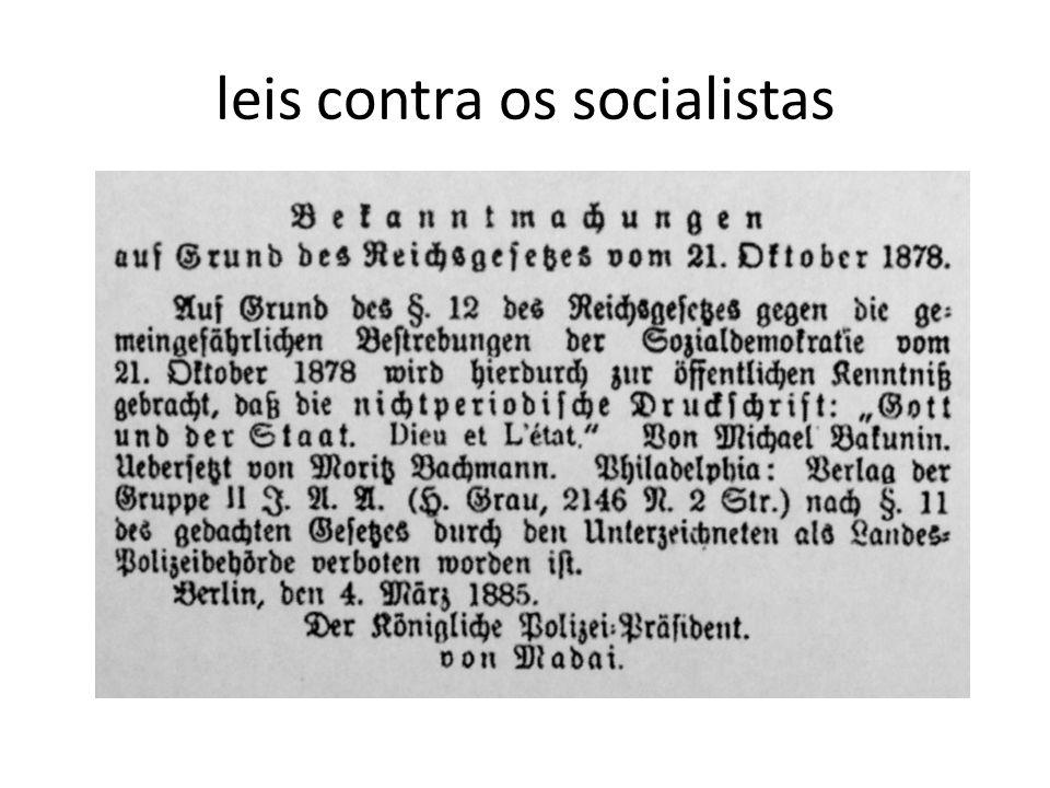 leis contra os socialistas