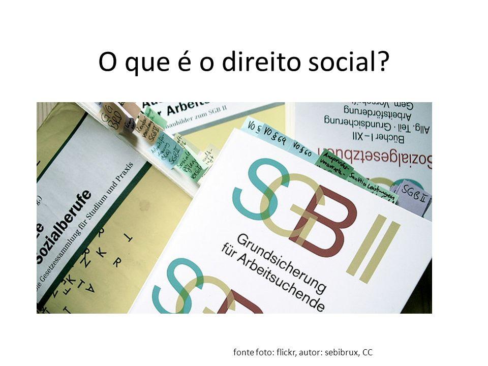 O que é o direito social? fonte foto: flickr, autor: sebibrux, CC