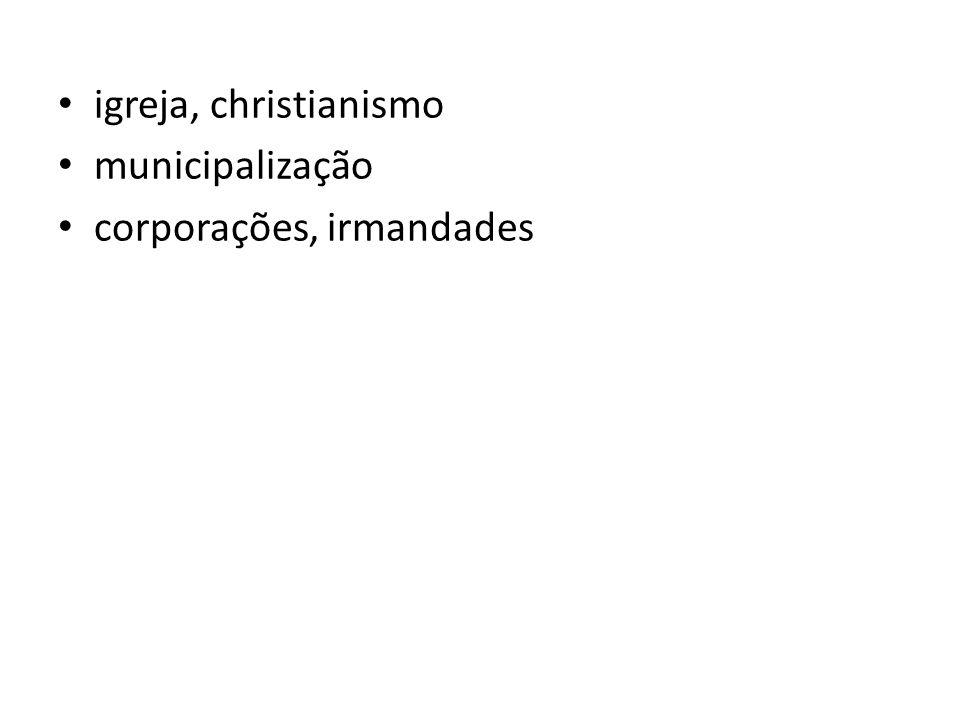 igreja, christianismo municipalização corporações, irmandades