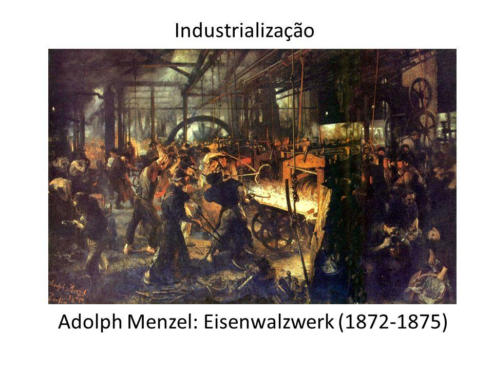 Adolph Menzel: Eisenwalzwerk (1872-1875) Industrialização