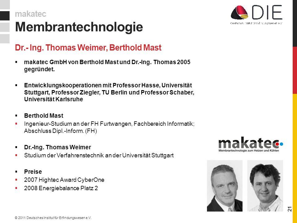makatec GmbH von Berthold Mast und Dr.-Ing.Thomas 2005 gegründet.