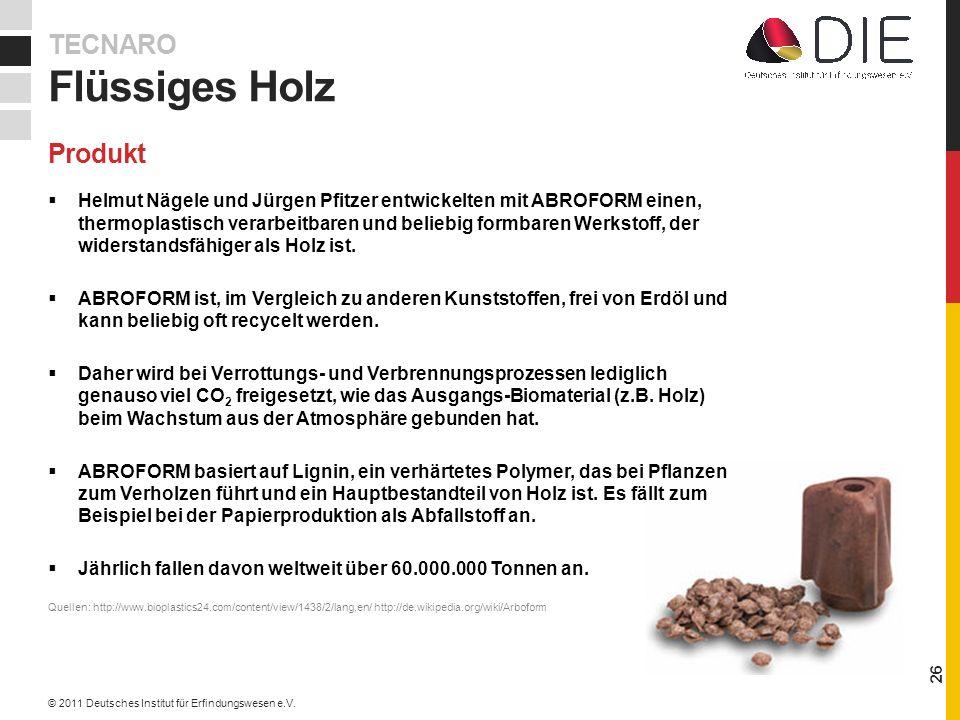 Helmut Nägele und Jürgen Pfitzer entwickelten mit ABROFORM einen, thermoplastisch verarbeitbaren und beliebig formbaren Werkstoff, der widerstandsfähiger als Holz ist.