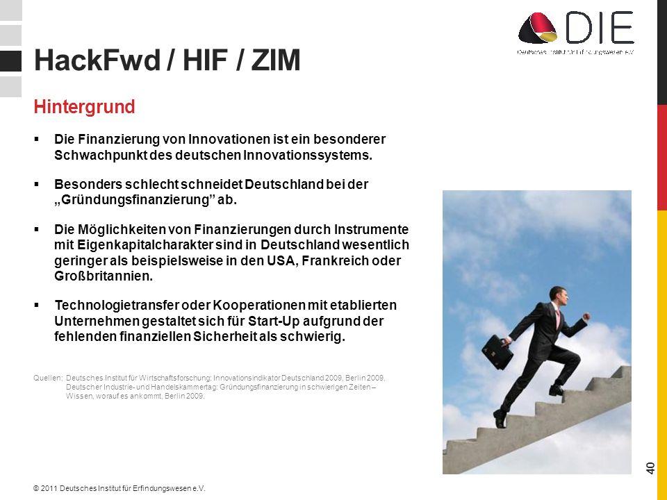 Die Finanzierung von Innovationen ist ein besonderer Schwachpunkt des deutschen Innovationssystems.