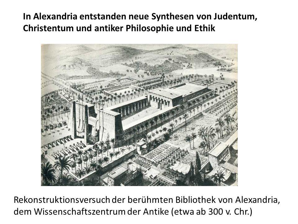Rekonstruktionsversuch der berühmten Bibliothek von Alexandria, dem Wissenschaftszentrum der Antike (etwa ab 300 v. Chr.) In Alexandria entstanden neu