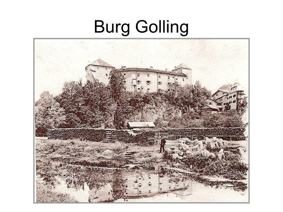 Burg Golling Heimatmuseum: Kultur- und naturgeschichtliche Ausstellungen Sonderausstellungen Kleine Festspiele (Konzerte, Lesungen,...) mit Künstlern