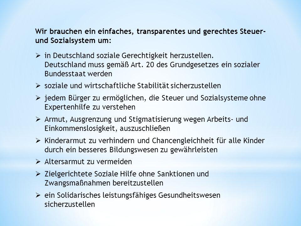 in Deutschland soziale Gerechtigkeit herzustellen.