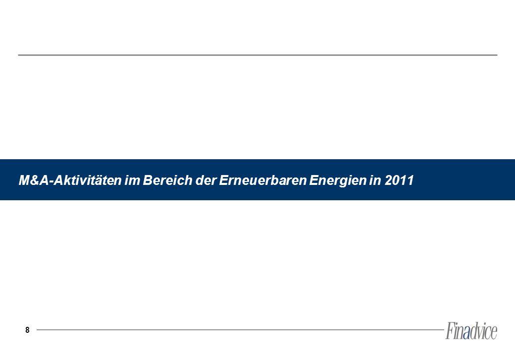 8 M&A-Aktivitäten im Bereich der Erneuerbaren Energien in 2011
