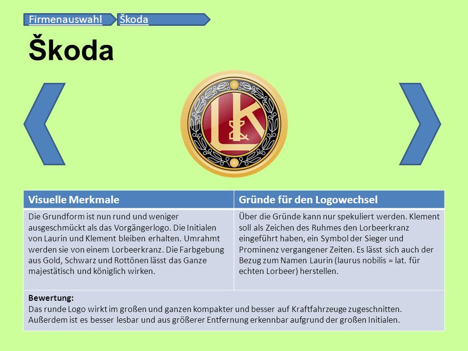 Visuelle MerkmaleGründe für den Logowechsel Die Grundform ist nun rund und weniger ausgeschmückt als das Vorgängerlogo. Die Initialen von Laurin und K