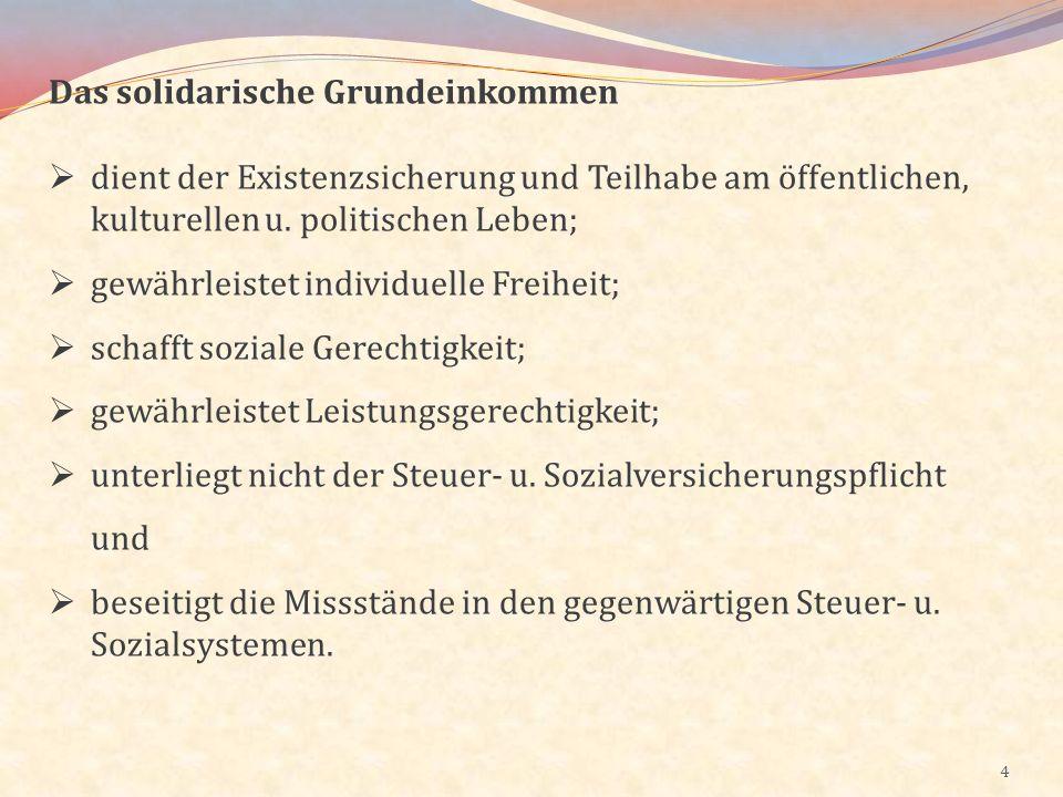 5 Die gegenwärtigen Steuer- u.